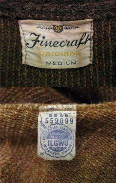 "画像5: 1960's ""Finecraft"" Mohair Cardigan  BROWN size S - M (表記 M) (5)"