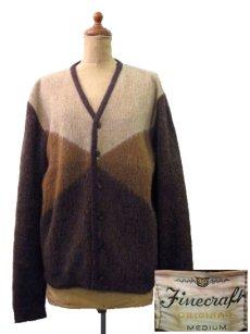"画像1: 1960's ""Finecraft"" Mohair Cardigan  BROWN size S - M (表記 M) (1)"