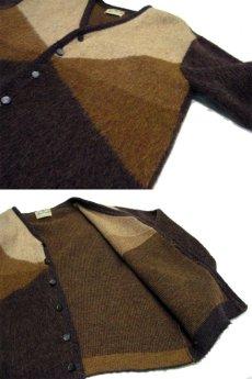 "画像4: 1960's ""Finecraft"" Mohair Cardigan  BROWN size S - M (表記 M) (4)"