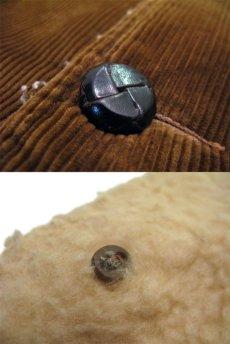 画像4: 1970's Corduroy Boa Half Coat  BROWN size L  (表記 ---) (4)