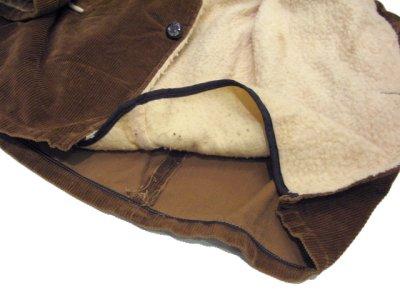 画像3: 1970's Corduroy Boa Half Coat  BROWN size L  (表記 ---)
