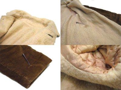 画像2: 1970's Corduroy Boa Half Coat  BROWN size L  (表記 ---)