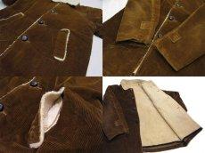 画像3: 1970's Corduroy Boa Half Coat  BROWN size L  (表記 ---) (3)
