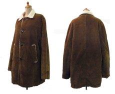 画像2: 1970's Corduroy Boa Half Coat  BROWN size L  (表記 ---) (2)