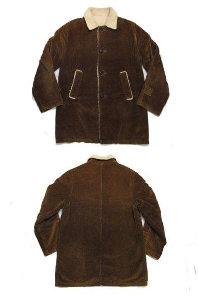 画像1: 1970's Corduroy Boa Half Coat  BROWN size L  (表記 ---)