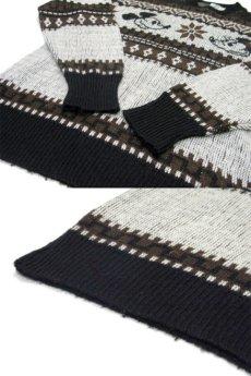 """画像5: 1970's """"Kennington"""" Jacquard Weave Pullover Sweater """"Mickey Mouse"""" size M - L (表記 LARGE) (5)"""