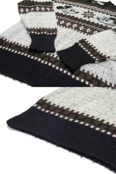 """画像3: 1970's """"Kennington"""" Jacquard Weave Pullover Sweater """"Mickey Mouse"""" size M - L (表記 LARGE)"""