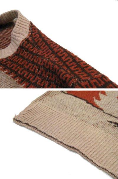 """画像2: 1970's """"Brandywine of California"""" Jacquard Weave Pullover Sweater """"SNOOPY"""" size M - L (表記 無し)"""