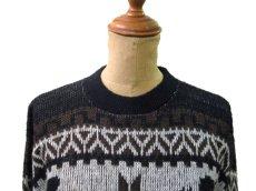 """画像3: 1970's """"Kennington"""" Jacquard Weave Pullover Sweater """"Mickey Mouse"""" size M - L (表記 LARGE) (3)"""
