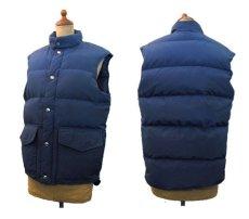 """画像2: 1980's """"Woolrich"""" 60/40 Cloth Down Vest  NAVY size S - M  (表記 SMALL) (2)"""