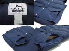 """画像4: 1980's """"Woolrich"""" 60/40 Cloth Down Vest  NAVY size S - M  (表記 SMALL) (4)"""