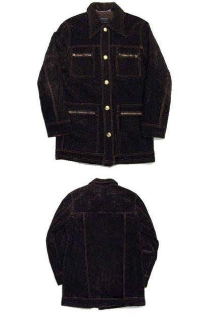 """画像1: 1970's """"TOWN CRAFT"""" Velour Boa Half Coat BROWN size S-M  ( 表記 S )"""