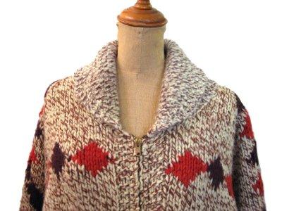 画像2: 1970's ~ Cowichan Sweater 馬 size L ~ XL 位 (表記 無し)