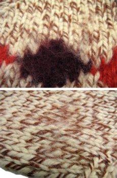 画像5: 1970's ~ Cowichan Sweater 馬 size L ~ XL 位 (表記 無し) (5)