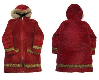 画像1: 1970's Eskimo Parka Coat  BURGUNDY size S 位 (表記 無し)