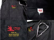 "画像4: 1950's French ""AU MOLINEL"" Black Linen Work Coat DEAD STOCK - one wash size L位 (表記 52) (4)"