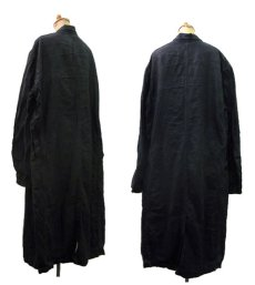"画像2: 1950's French ""AU MOLINEL"" Black Linen Work Coat DEAD STOCK - one wash size L位 (表記 52) (2)"