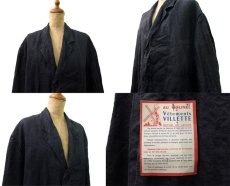 "画像3: 1950's French ""AU MOLINEL"" Black Linen Work Coat DEAD STOCK - one wash size L位 (表記 52) (3)"
