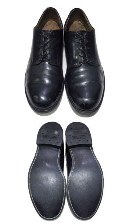 """画像1: 1980's """"US NAVY"""" Oxford Service Shoes BLACK size 10 R  ( 28 cm )"""