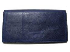 """画像2: """"JUTTA NEUMANN"""" Leather Wallet """"the Waiter's Wallet""""  color : NAVY / EMERALD 長財布 (2)"""