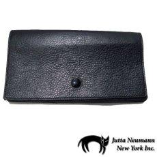 """画像1: """"JUTTA NEUMANN"""" Leather Wallet """"the Waiter's Wallet""""  color : BLACK / PURPLE 長財布 (1)"""