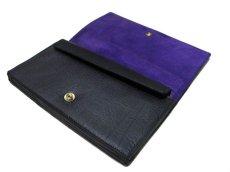 """画像3: """"JUTTA NEUMANN"""" Leather Wallet """"the Waiter's Wallet""""  color : BLACK / PURPLE 長財布 (3)"""
