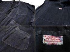 """画像4: ~1940's French """"ALA HOULETTE"""" Indigo Linen Work Coat size L位 (表記 なし) (4)"""