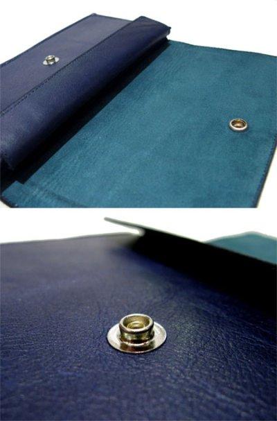 """画像1: """"JUTTA NEUMANN"""" Leather Wallet """"the Waiter's Wallet""""  color : NAVY / EMERALD 長財布"""