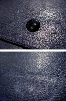 """画像3: """"JUTTA NEUMANN"""" Leather Wallet """"the Waiter's Wallet""""  color : NAVY / EMERALD 長財布 (3)"""