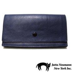 """画像1: """"JUTTA NEUMANN"""" Leather Wallet """"the Waiter's Wallet""""  color : NAVY / EMERALD 長財布 (1)"""