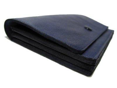 """画像2: """"JUTTA NEUMANN"""" Leather Wallet """"the Waiter's Wallet""""  color : NAVY / EMERALD 長財布"""
