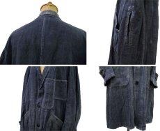 """画像3: ~1940's French """"ALA HOULETTE"""" Indigo Linen Work Coat size L位 (表記 なし) (3)"""