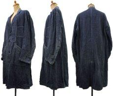 """画像2: ~1940's French """"ALA HOULETTE"""" Indigo Linen Work Coat size L位 (表記 なし) (2)"""