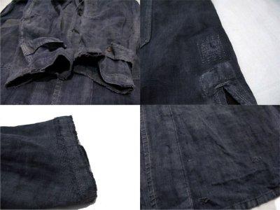 """画像2: ~1940's French """"ALA HOULETTE"""" Indigo Linen Work Coat size L位 (表記 なし)"""