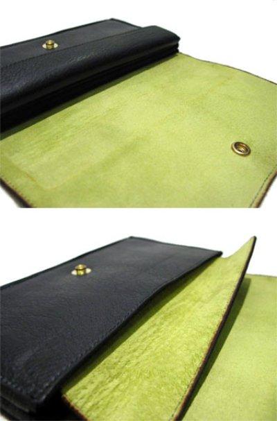 """画像1: """"JUTTA NEUMANN"""" Leather Wallet """"the Waiter's Wallet""""  color : BLACK / YELLOW 長財布"""