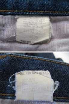 """画像4: 1980's Levi's 517 Denim Pants with Lining """"1984 L.A Olympic"""" size 30.5 inch (表記 30 x 34) (4)"""