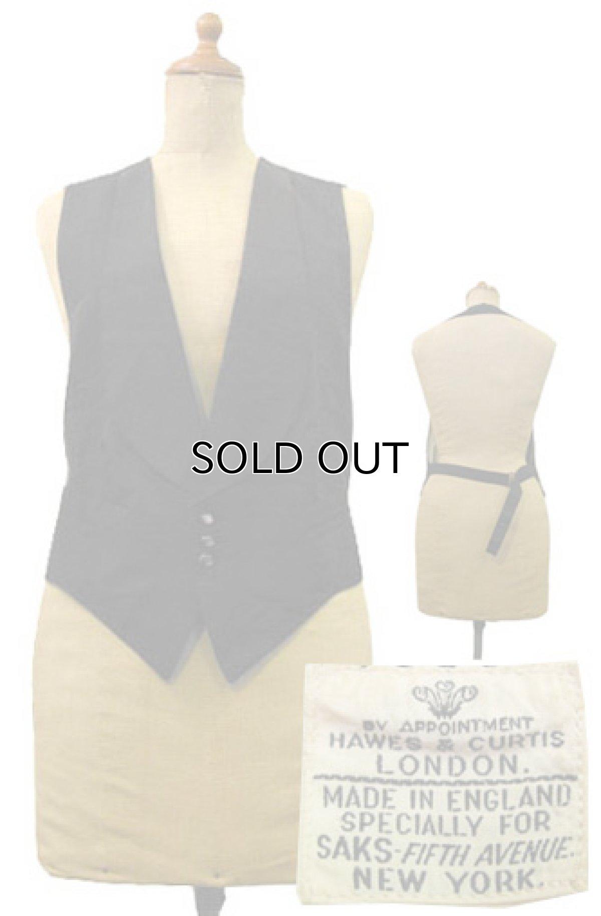 """画像1: 1930's """"Saks Fifth Avenue """" Waist Gillet  BLACK size Free  (表記 不明) (1)"""