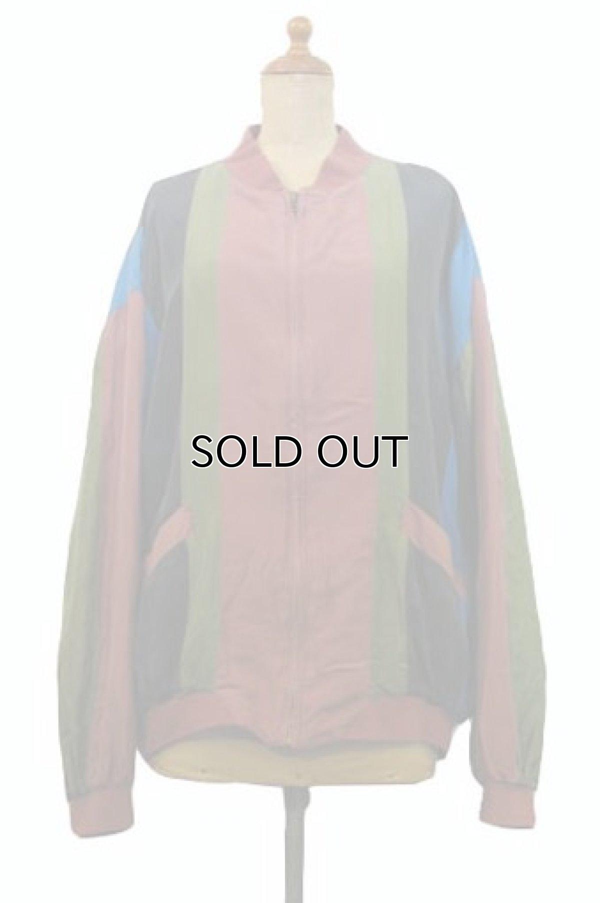 """画像1: """"Cheval Design Studio"""" Stripe Silk Jacket size M - L位 (表記 M) (1)"""