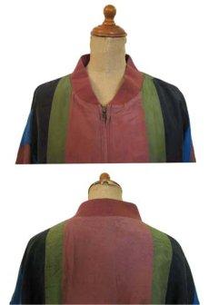 """画像5: """"Cheval Design Studio"""" Stripe Silk Jacket size M - L位 (表記 M) (5)"""