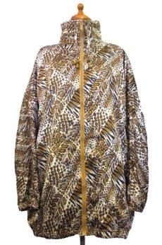 """画像1: 1990's~ """"Rafael"""" Animal Print Crazy Pattern Nylon Jacket size M - L位 (表記 S) (1)"""