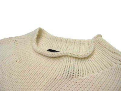 """画像1: 00's~ """"DKNY"""" Mock Neck Pullover Sweater  Ivory size M (表記 L)"""