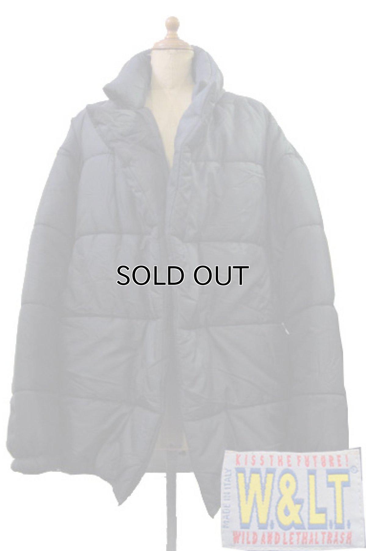 """画像1: 1990's """"W&LT"""" Design Patting Jacket"""" made in ITALY BLACK size S (1)"""