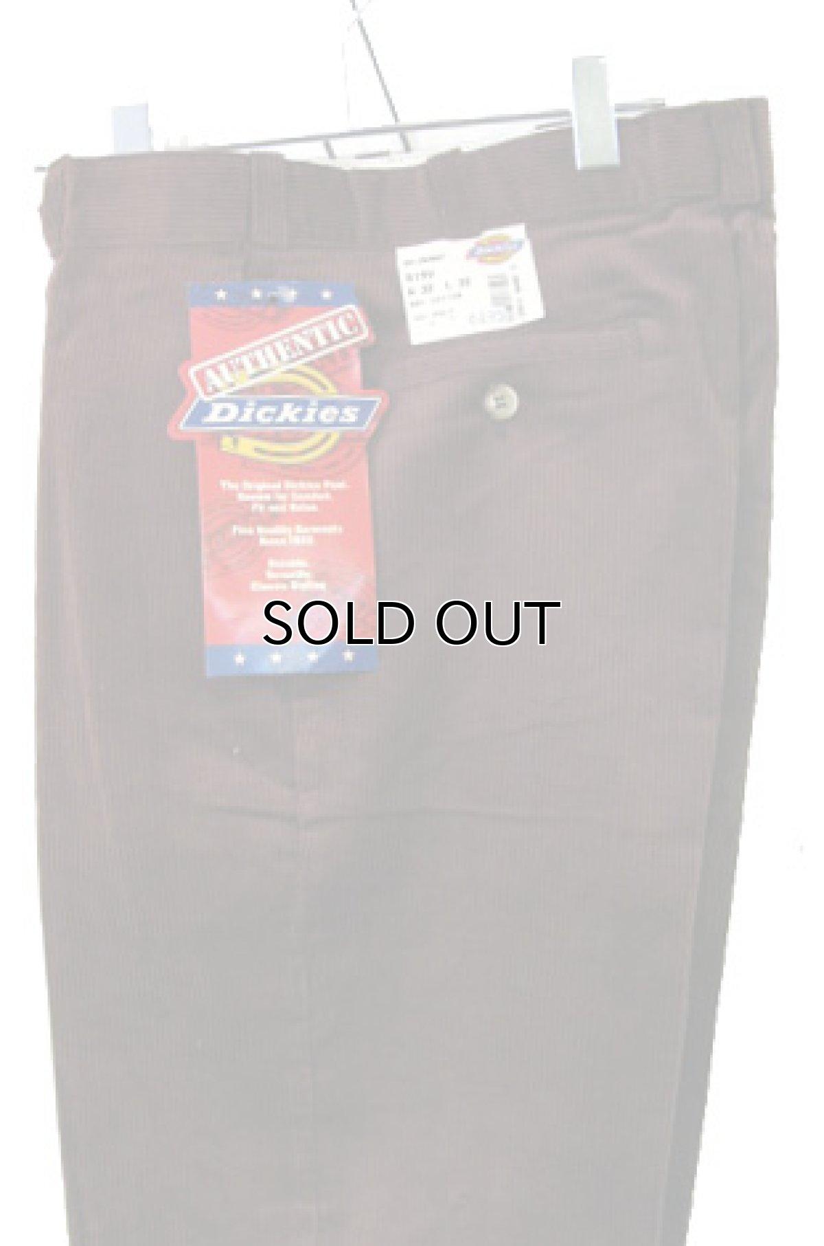 """画像1: 1990's """"Dickies"""" Corduroy Trousers DEAD STOCK  made in USA  BROWN size W32 x L32  (1)"""