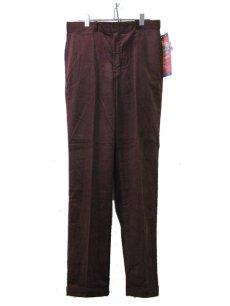 """画像3: 1990's """"Dickies"""" Corduroy Trousers DEAD STOCK  made in USA  BROWN size W32 x L32  (3)"""