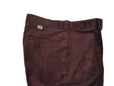 """画像2: 1990's """"Dickies"""" Corduroy Trousers DEAD STOCK  made in USA  BROWN size W32 x L32"""