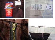 """画像5: 1990's """"Dickies"""" Corduroy Trousers DEAD STOCK  made in USA  BROWN size W32 x L32  (5)"""