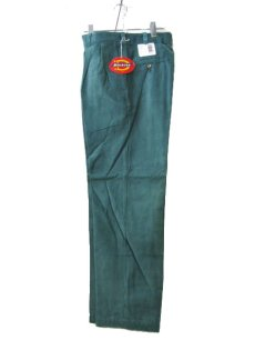"""画像2: 1990's """"Dickies"""" ヨコ畝 Corduroy Trousers DEAD STOCK  made in USA  Light Green size W31L34 / W34L32  (2)"""