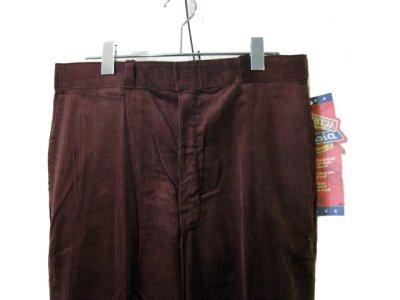 """画像1: 1990's """"Dickies"""" Corduroy Trousers DEAD STOCK  made in USA  BROWN size W32 x L32"""