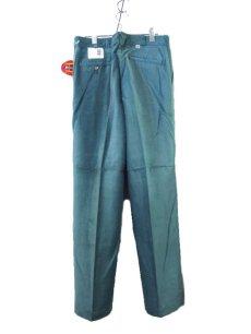 """画像4: 1990's """"Dickies"""" ヨコ畝 Corduroy Trousers DEAD STOCK  made in USA  Light Green size W31L34 / W34L32  (4)"""