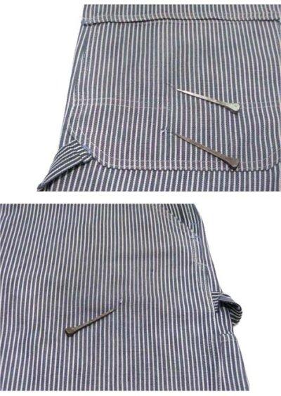 """画像1: 1970's """"Sears"""" Hickory Stripe Overall  size L  (表記 不明)"""